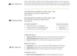 Functional resume template for Microsoft Word