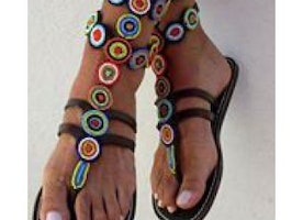Kenyan made gladiator sandals