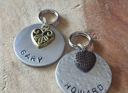 Personalized Pet ID tag with charm