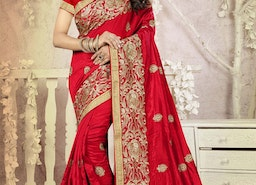 VERSATILE BOOTI WORK CONTEMPORARY STYLE SAREE