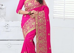 NOBLE EMBROIDERED WORK TRADITIONAL SAREE