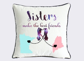 sisters make the best friend pillow cover-personalized little sister present-galaxy sister in law gift-sister birthday gift-girls room decor