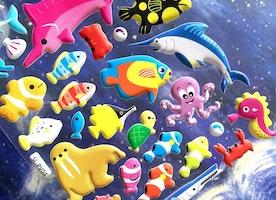 big fish sea animal sticker deep blue sea shark sea seal rare fish puffy sticker sea world fish world colorful fish underwater theme sticker