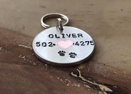 Custom Pet ID tag with phone number
