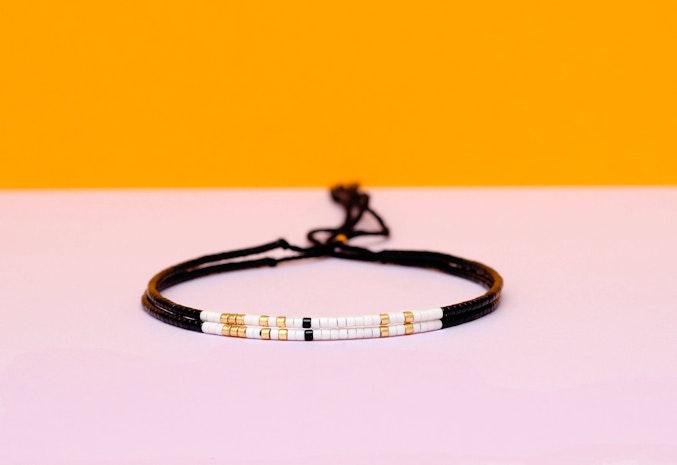 60034811c913e Set of 2 Morse Code Soul Sister Bracelets - Mogul