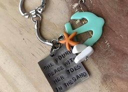 Beach Girl keychain