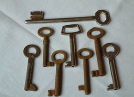 Those vintage keys are great for any project