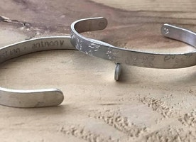 Personalized floral cuff with names