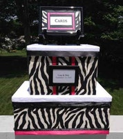 Zebra Wedding Box for holding cards at reception
