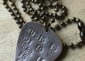 Custom guitar pick ball chain necklace