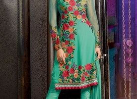 SONOROUS FLORAL WORK PANT STYLE PARTY WEAR SALWAR SUIT