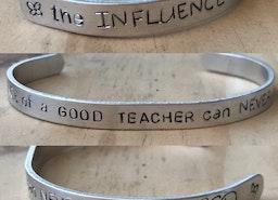Teacher appreciation cuff