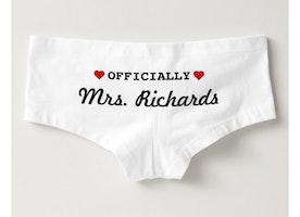 Cute Bridal Wedding Underwear
