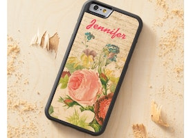 Floral Wood iPhone 6 Case Personalized with your Name!