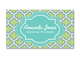 Moroccan Style Business Cards For Women