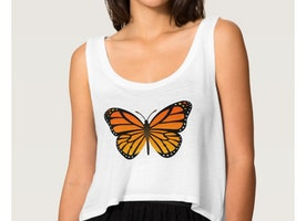 Beautiful Tank Top For Butterfly Lovers