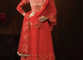 STRANGE EMBROIDERED WORK FLOOR LENGTH ANARKALI SUIT