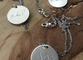 Greek Letter necklace