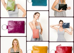 Happy colors for happy Girls Bracelet leather clutches in 16 different colors options!!!
