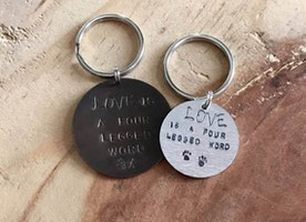 Love Is a four legged word keychain