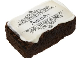 Put your name on this brownie