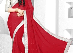 LACE WORK CONTEMPORARY STYLE SAREE FOR CEREMONIAL