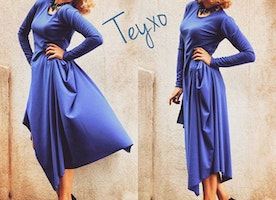 Be true blue with this perfect dress for Fall!