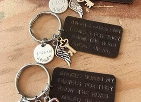 Personalized Guardian Angel Keychains