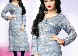 Gregarious Cream Princess Cut Type Long Kurti With Sweetheart Neck
