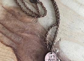 Custom penny necklace