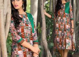 Irresistible Multicolor Trendy Kurti Sober Tone Print For Women