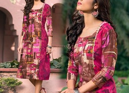 Gorgeous Multicolor Straight Cotton Kurta To Dress-Up On Legging