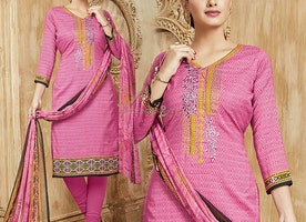 Girls Pink Dress Punjabi Boutique Style A-Shape Sheath Style Top