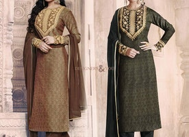 Fine-Looking Georgette Full Sleeved Dress With Mandarin Collar