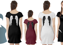 Feathered Wings Tunic Dress