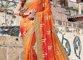 SILK CONTEMPORARY STYLE SAREE FOR CEREMONIAL