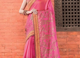 SILK BEADS WORK CONTEMPORARY SAREE