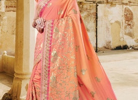 PRINT WORK TRENDY CLASSIC SAREE FOR CEREMONIAL