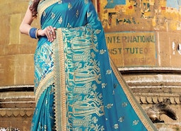 PATCH BORDER WORK CONTEMPORARY STYLE SAREE