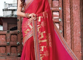 SILK LACE WORK CLASSIC SAREE