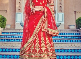 NET A - LINE LEHENGA FOR BRIDAL