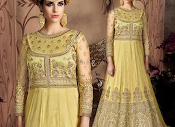 Devastating Yellow Ethnic Gown For Sangeet Party To Be Divine