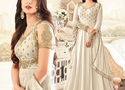 Dashing Cream Colored Best Gown For Reception To Be Mesmeric