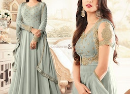 Defect-Less Motivating Grey Gown For Gathering To Be Delightful