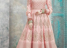 ART SILK LONG LENGTH SALWAR KAMEEZ
