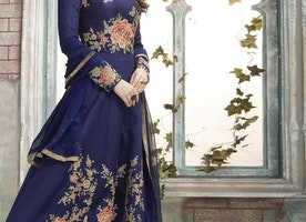 SILK AARI WORK FLOOR LENGTH KALIDAR SALWAR SUIT