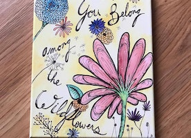You Belong Among the Wildflowers 8x10 canvas