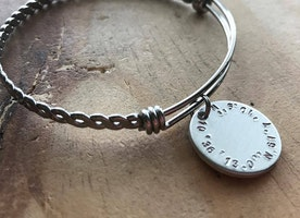 Latitude Longitude Bangle Bracelet