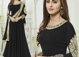 Celebrity Krystle D'Souza Influenced Stylish Black Bollywood Outfit