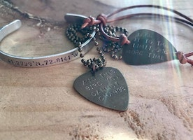 Custom hand stamped/handmade jewelry and more